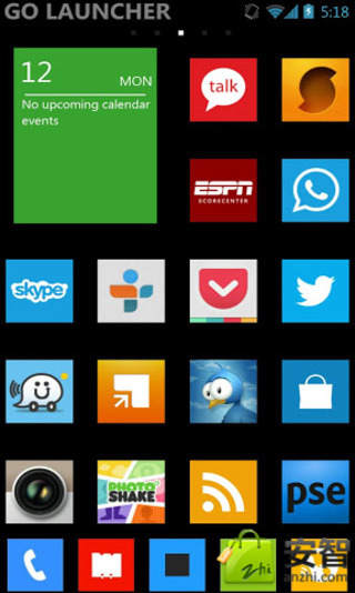 Windows 8 Theme GO Apex Nova